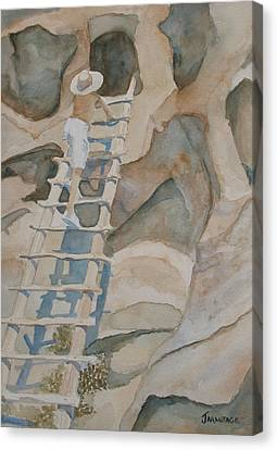Ladder To The Past Canvas Print by Jenny Armitage