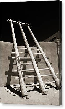 Ladder To The Sky Canvas Print by Gary Cloud
