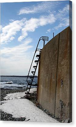 Ladder To The Snow Canvas Print by Jeff Porter