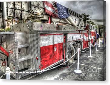 Ladder Truck 152 - 9-11 Memorial Canvas Print by Eddie Yerkish