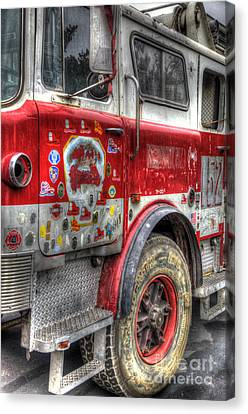 Ladder Truck 152 - In Remembrance Of 9-11 Canvas Print by Eddie Yerkish