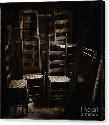 Ladderback Chairs Canvas Print by Stanton Tubb