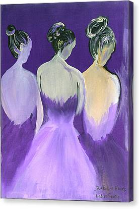 Ladies In Purple Canvas Print by Robert Lee Hicks