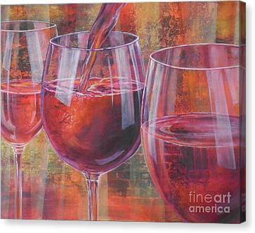 Malbec Canvas Print - Ladies Night Out by Carol McIntyre