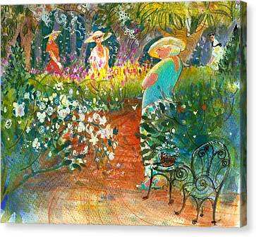 Ladies Of The Garden Canvas Print by Gertrude Palmer
