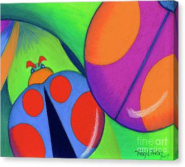 Ladies On A Leaf Canvas Print by Tracy L Teeter