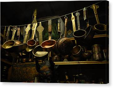 Ladles Of Tibet Canvas Print by Donna Caplinger