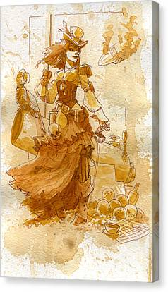 Lady Bonney Canvas Print by Brian Kesinger