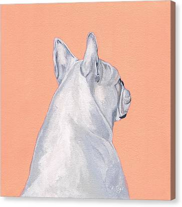 Bulldogs Canvas Print - Lady by Brian Ogi