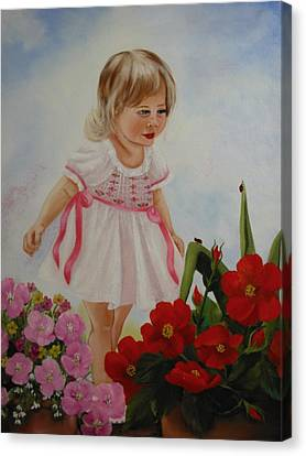 Lady Bug Lady Bug Canvas Print by Joni McPherson