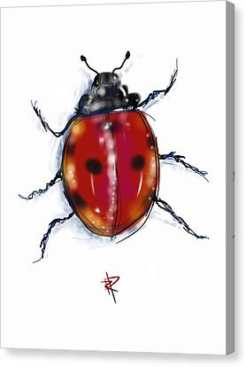 Lady Bug Canvas Print by Russell Pierce