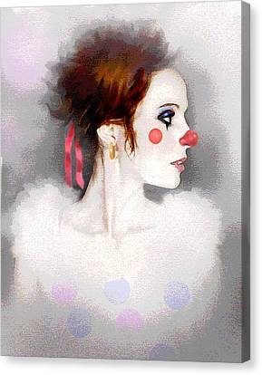 Lady Clown Canvas Print by Robert Foster