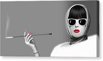 Lady Elegance Canvas Print by Monika Juengling