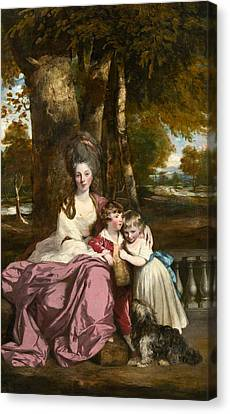 Lady Elizabeth Delme And Her Children Canvas Print