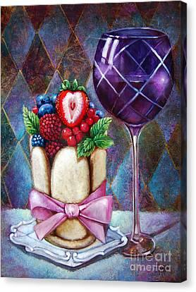 Lady Finger Tower Dessert Canvas Print