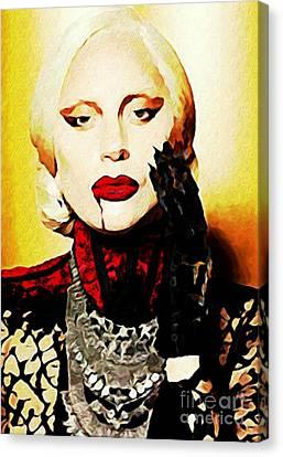 Lady Gaga As Elizabeth In American Horror Story Canvas Print by John Malone