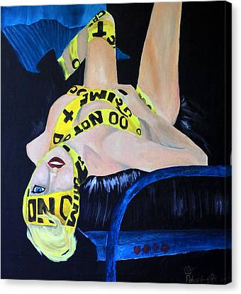 Lady Gaga Telephone Canvas Print by Robert Hodgson
