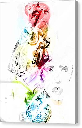 Lady Gaga Canvas Print by The DigArtisT