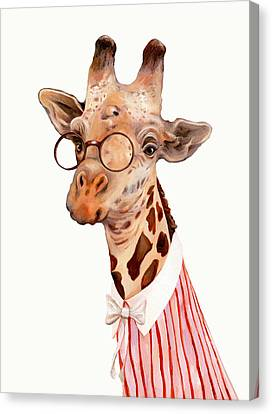 Lady Giraffe Canvas Print by Animal Crew