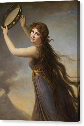 Windswept Canvas Print - Lady Hamilton, As A Bacchante by Elisabeth Louise Vigee-Lebrun