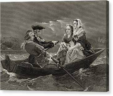 Lady Harriet Ackland On Way To Visit Canvas Print by Vintage Design Pics