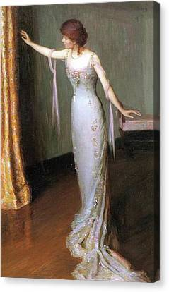Lady In An Evening Dress Canvas Print by Cabot Perry
