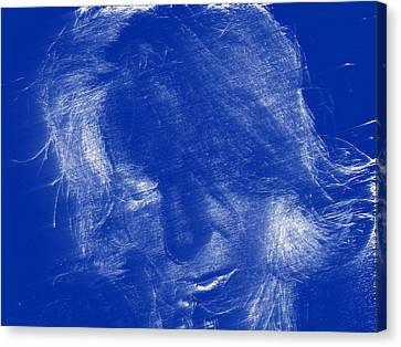 Lady In Blue Canvas Print by Kicking Bear  Productions