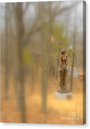 Lady In Bronze Canvas Print
