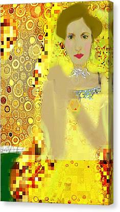 Lady In Gold Whimsy  Canvas Print by ARTography by Pamela Smale Williams