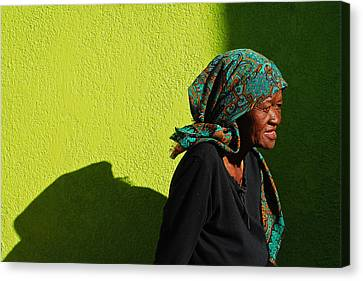 Lady In Green Canvas Print by Skip Hunt