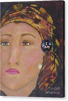 Lady In Head Scarf  Canvas Print