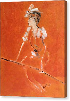 Lady In Orange Canvas Print by Susan Adams