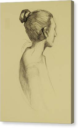 Lady In Profile Canvas Print by Susan Fowler