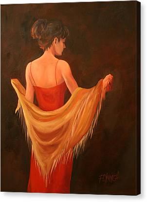 Lady In Red Canvas Print by Lynn Chatman