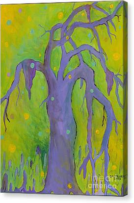 Lady In The Tree Canvas Print by Alison Caltrider