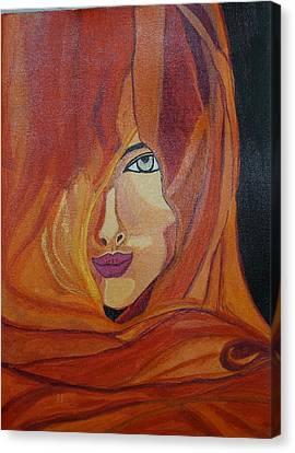 Lady Inveil Canvas Print by Shweta Singh
