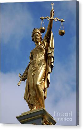 Canvas Print featuring the photograph Lady Justice In Bruges by RicardMN Photography
