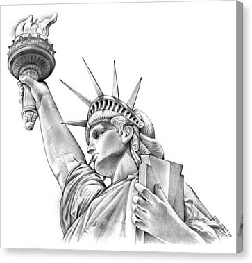 Icon Canvas Print - Lady Liberty by Greg Joens