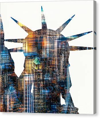 Lady Liberty Canvas Print by Hannes Cmarits