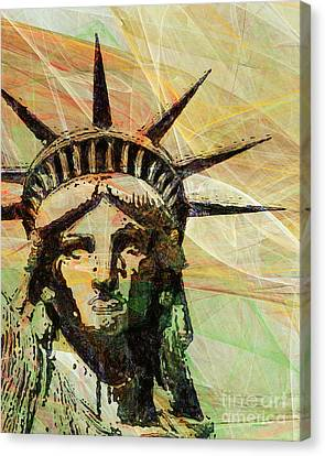 Lady Liberty Head 20150928 Canvas Print by Wingsdomain Art and Photography
