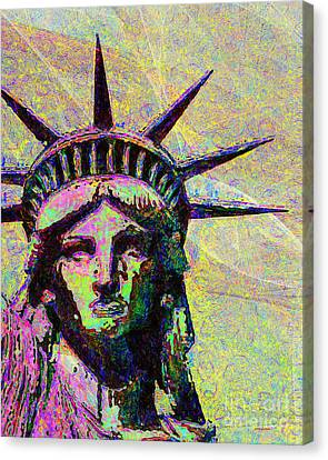 Lady Liberty Head 20150928dap2 Canvas Print by Wingsdomain Art and Photography