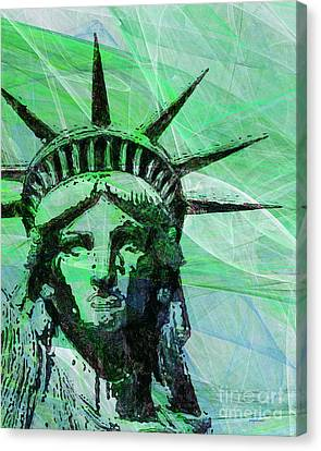 Lady Liberty Head 20150928p100 Canvas Print by Wingsdomain Art and Photography