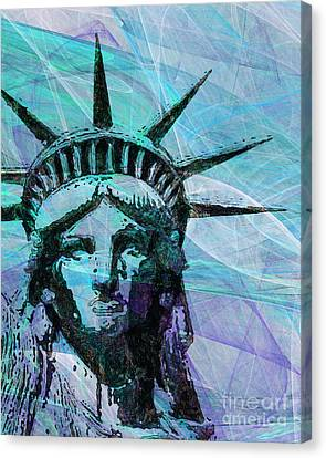Lady Liberty Head 20150928p150 Canvas Print by Wingsdomain Art and Photography