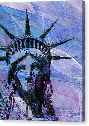 Lady Liberty Head 20150928p180 Canvas Print by Wingsdomain Art and Photography