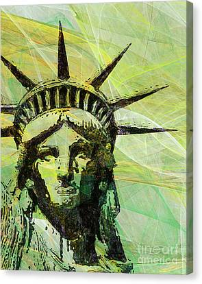 Lady Liberty Head 20150928p28 Canvas Print by Wingsdomain Art and Photography