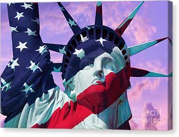 Lady Liberty Patriot Canvas Print by Jon Neidert