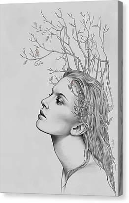Lady November Canvas Print