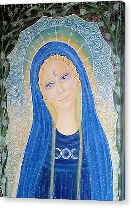 Tripple Canvas Print - Lady Of Avalon by Lila Violet