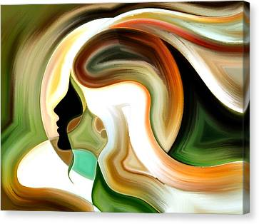 Lady Of Color Canvas Print by Karen Showell