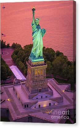Lady Of Liberty Canvas Print by Inge Johnsson